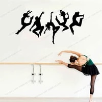 dancing people dance art stickers dancers vinyl wall decal silhouette mural removable wallpoof for living room cx1224