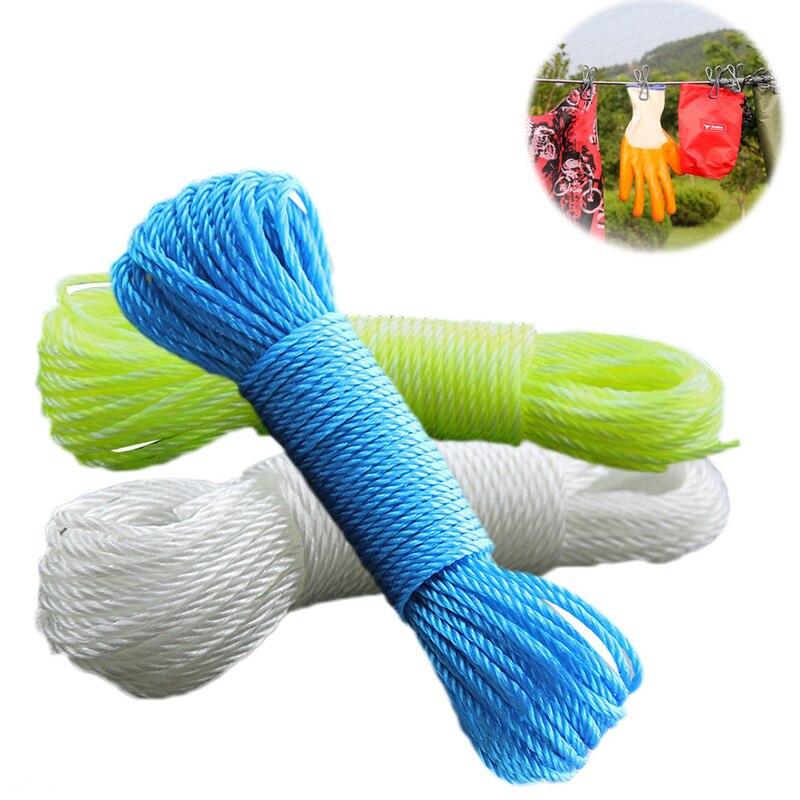 Envío Gratis, cuerda de nailon de 20m de largo, tendedero, secador de ropa, cuerda de red para atar la tracción, suministros de jardín
