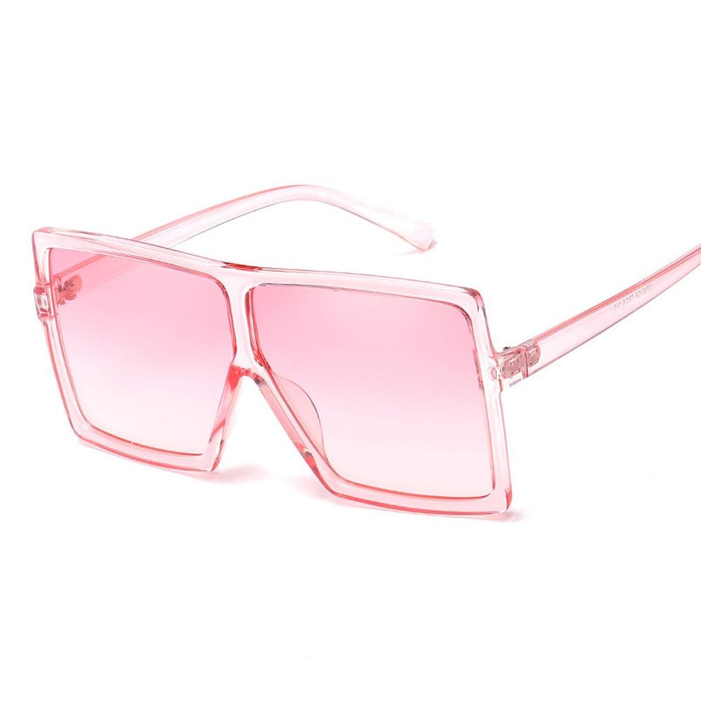 Leopard Big Flat Frame Vintage Sunglasses Women Luxury Brand Trendy Flat Top Sun Glasses Female Gradient Shades UV400 Protection outdoor full frame flat lens sun shades sunglasses