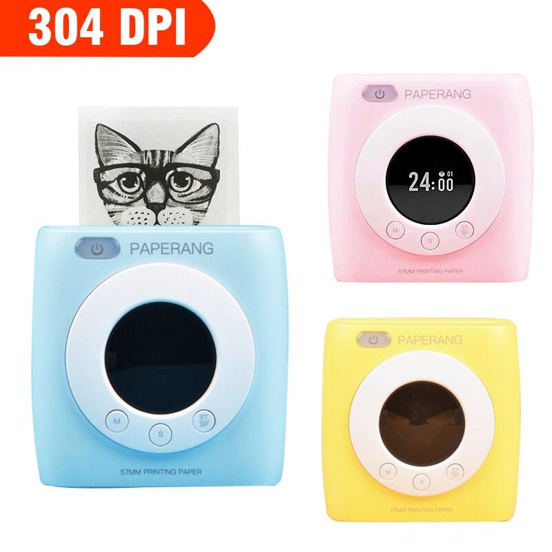 Impressora de Fotos Impressora de Imagem Impressão sem Fio 304dpi com Relógio Paperang Mini Térmica Portátil Bolso 58mm Bluetooth R10 P2s