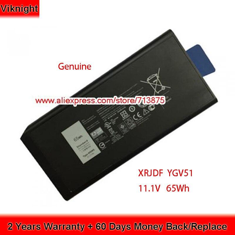 Genuino 11,1 V 65Wh X8VWF CJ2K1 XRJDF YGV51 batería para Dell Latitude E5404 451-12187, 451-12188 4XKN5 DKNKD XN4KN 45112187