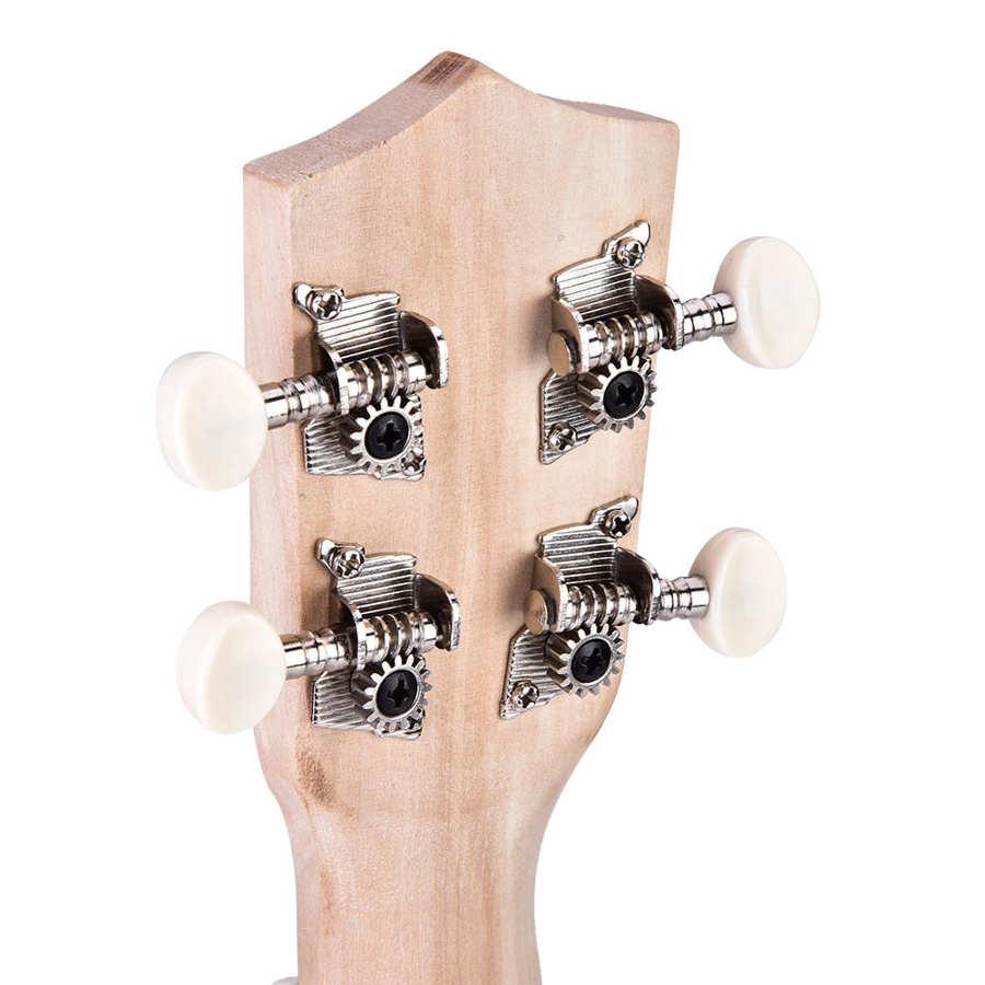 21 inch ukelele ukulele hawaii guitar kit diy basswood mini guitar fingerboard hawaii guitar for kids learning music training enlarge