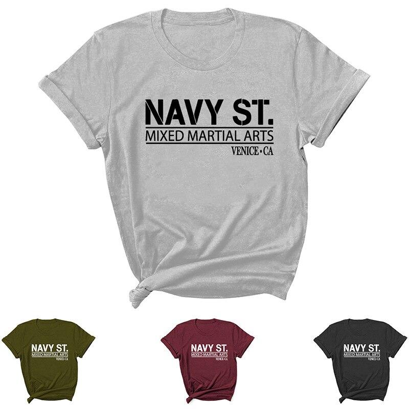 Camiseta con estampado de letras para Mujer, ropa de manga corta con...