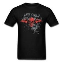 Camiseta masculina do crânio de a7x do treino do tshirt dos homens de sevenfold vingado