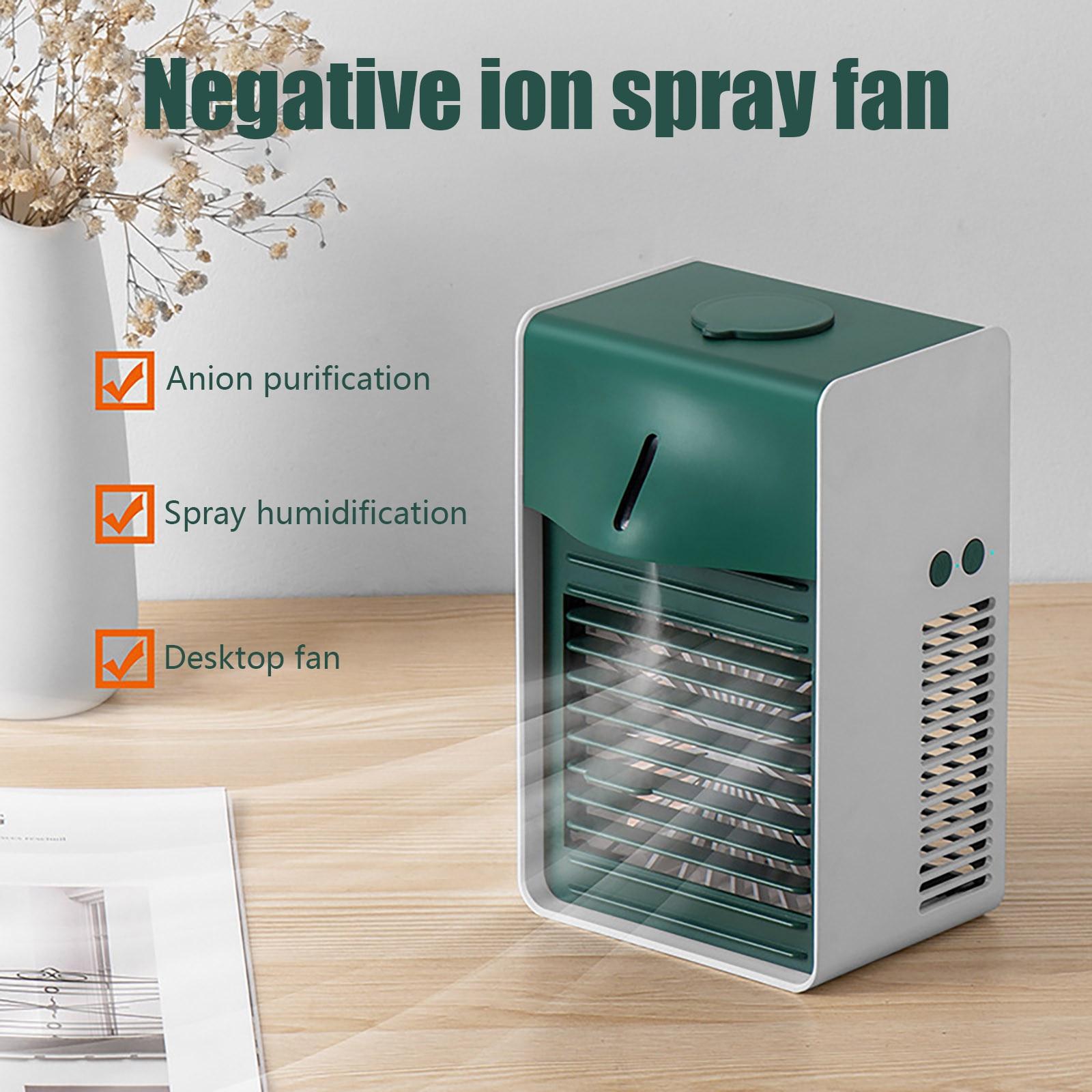 سلبي أيون مبرد الهواء سطح المكتب تكييف الهواء مروحة تبريد المياه المنزلية USB شحن تكييف الهواء تبريد الهواء سطح المكتب