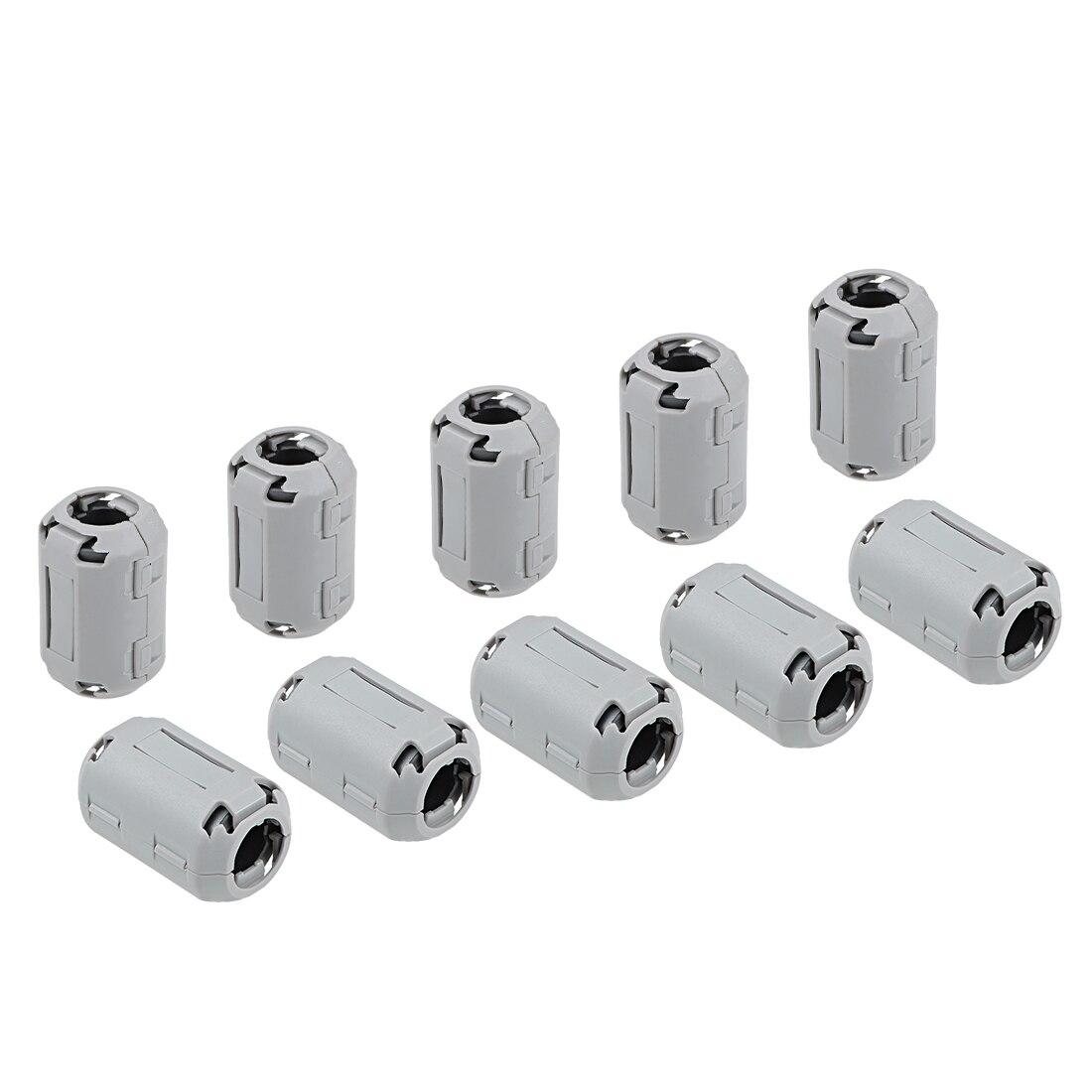 Uxcell 13mm núcleos de ferrita anillo Clip-On RFI EMI supresión de ruido filtro Clip de Cable, gris 10 Uds