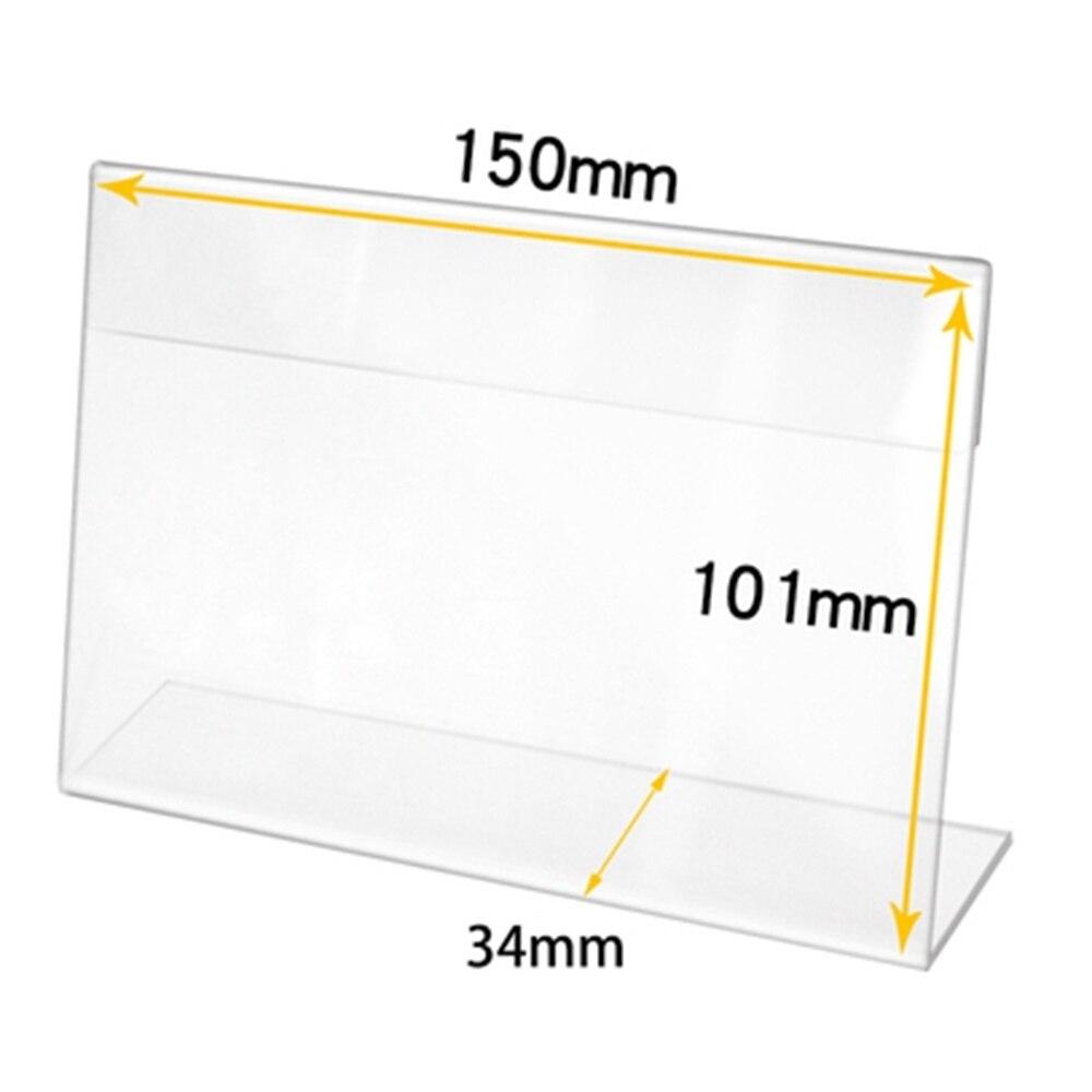 Этикетка для пекарни Clear L-type, Настольная прозрачная платформа, вывеска, акриловая рамка для рисования, держатель для фотографий