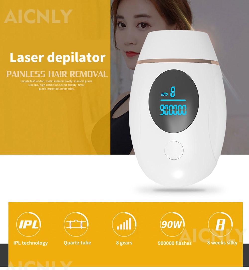 900000 Flashes IPL Laser Epilator Hair Removal Machine Pulsed Light Electric Epilator Permanent Painless Epilator enlarge