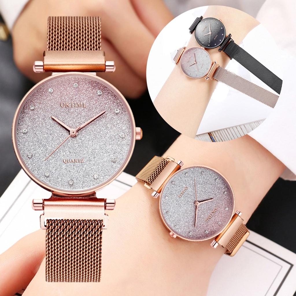 Fashion Sky Watch Magnet Band Women Quartz Diamond Wristwatch Watches Luxury Starry Sky Magnetic Wom