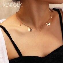 KINFOLK mode papillon or collier étoiles chaînes colliers pour femmes bohème Chocker chaîne personnalisé collier 2020