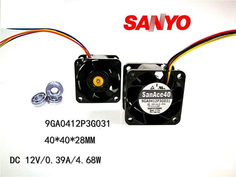 40 мм вентилятор новый для San Ace 9GA0412P3G031 серверный вентилятор 40*40*28 мм 12 В 0.39A серверный чехол Вентилятор охлаждения ШИМ 28000 об/мин