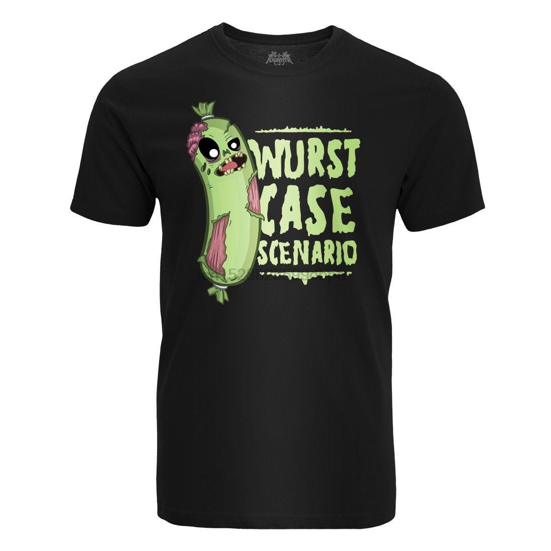 Camiseta de Herren Wurst caso Scenario friki Prepper Zombie ventilador S-3XL manga corta de algodón camiseta envío gratis TOP