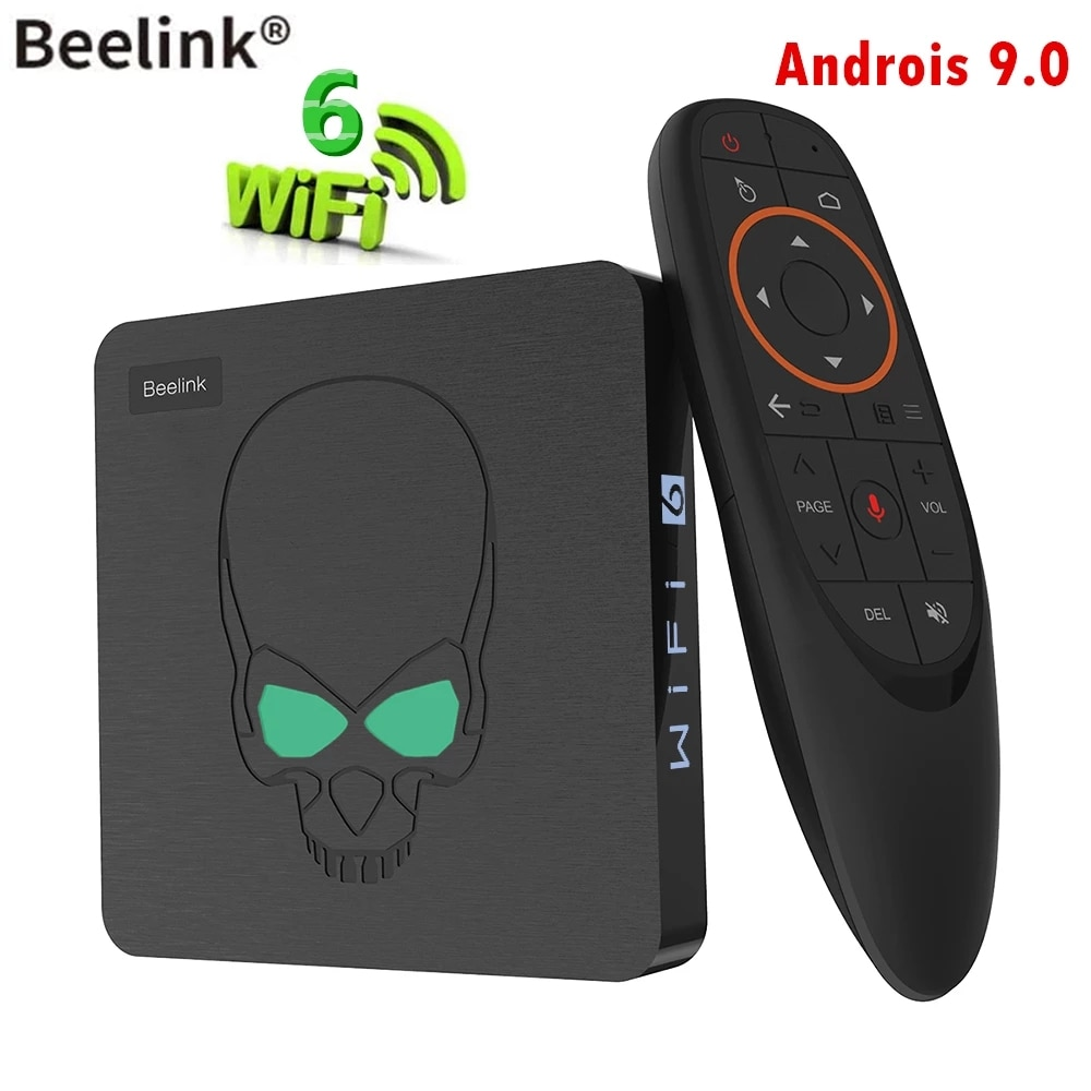 Beelink GT-König Android 9,0 TV BOX Amlogic S922X 4G DDR4 64G EMMC Smart TV WIFI 6 1000M LAN 4K 3D Bluetooth 4,0 Media Player