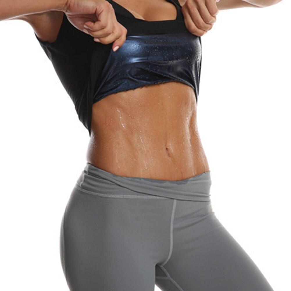 Women Sweat Body Shaper Vest Fat Burned Tank Tops Weight Loss Gym Corset Vest Tummy Belly Girdle Body Shaper Waist Cincher Corse