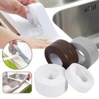 Настенные наклейки для ванной комнаты и кухни, художественная уплотнительная лента, герметичная лента, устойчивая к плесени и водонепрониц...