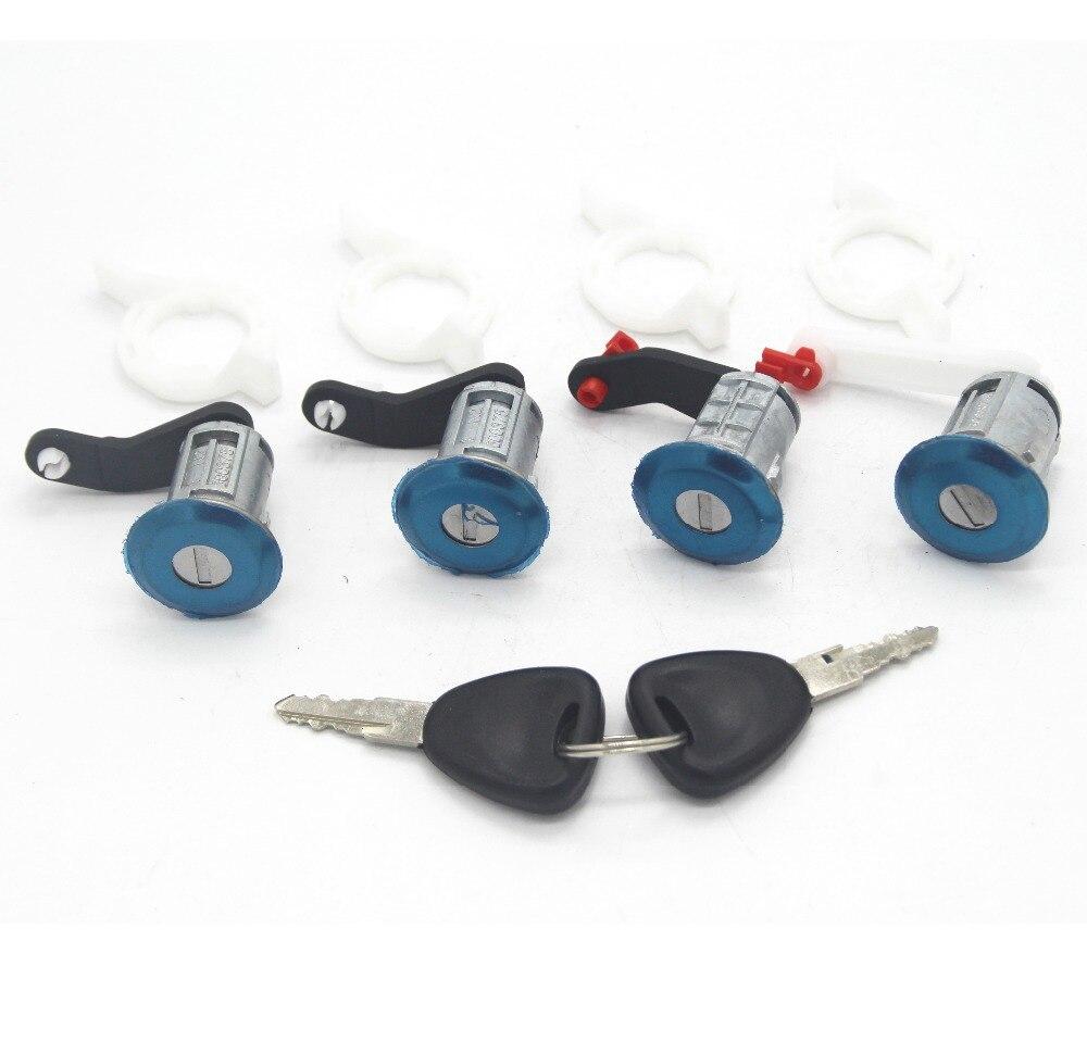 4 pièces serrure ensemble porte barillet 7701470944 pour Renault Master II 1998-2009