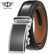 Genuine Leather Belts For Men Automatic Male Belts Cummerbunds Leather Belt Men Luxury Black Dark Br