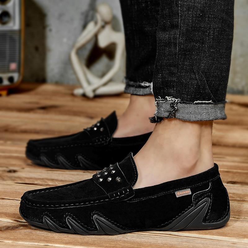 Hot Sale Casual Shoe Mens Comfortable Lazy Shoes Men Hard-Wearing Men Drive Shoes Slip-on Men Loafer Shoes Fashion Mens Shoe