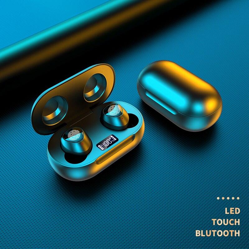 ¡Novedad de 2020! Auriculares inalámbricos TWS nuevos y originales, miniauriculares Bass, auriculares Bluetooth, auriculares deportivos con caja de carga