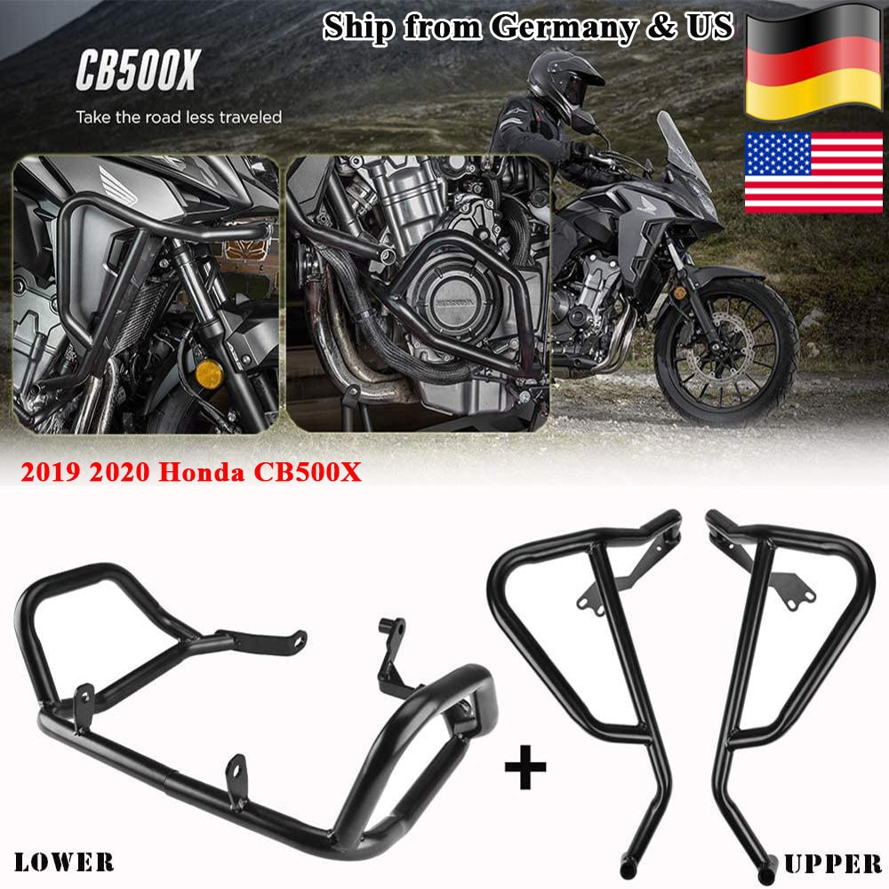 Crash Bar for Honda CB500X 2019 2020 2021 Lower Upper Engine Guard Bumper Body Frame Falling Protect