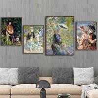 Peinture sur toile imprimee  decoration de maison  affiche dimages murales  peintures francaises Pierre-Auguste Renoi