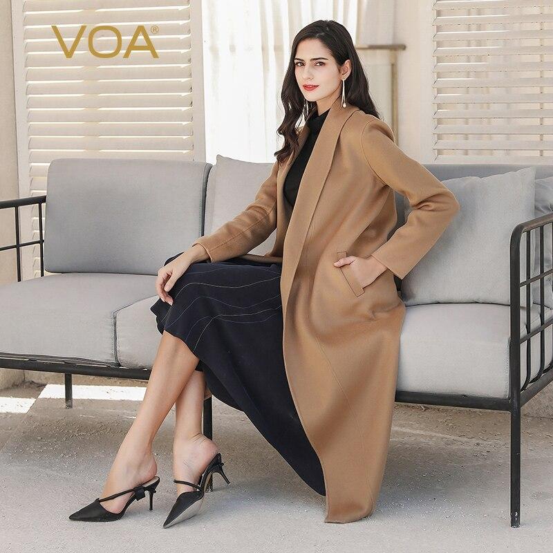 Voa inverno quente camelo bebê cashmere casacos feminino luxo tesouro longo casaco cardigan outerwear high-end roupas s1320