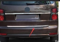stainless steel rear trunk lid cover trim for vw for volkswagen touran 2010 2015 1 pcs