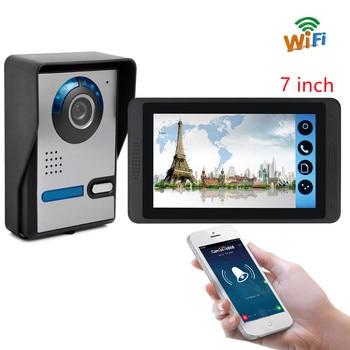 7 inch WiFi Video Intercom For Home Security Door Remote Unlock Camera Doorphone Touch Screen Wireless HD Screen Indoor Monitor