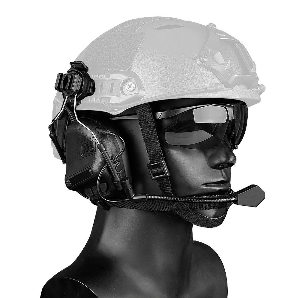 Auriculares electrónicos tácticos, auriculares militares antirruido para disparar, protección auditiva para deportes al aire libre, amplificador de sonido