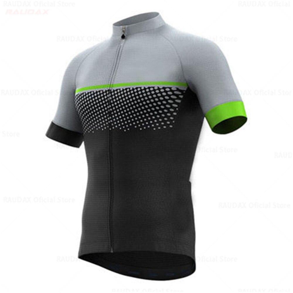 Raudax-Ropa De Ciclismo para Hombre, Maillot De manga corta para bicicleta De...