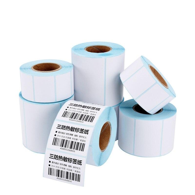 Клейкая термоэтикетка 700 шт., бумага для банок, пустая бумага для супермаркетов, прямая печать ярлыков штрих-кодов, водонепроницаемые принад...