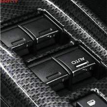 BJMYCYY-boutons de vitre de voiture   À paillettes décoratifs, style de voiture, ABS 7 pièces/ensemble pour Honda 9th civic 12-15 accessoires pour la navette urbaine