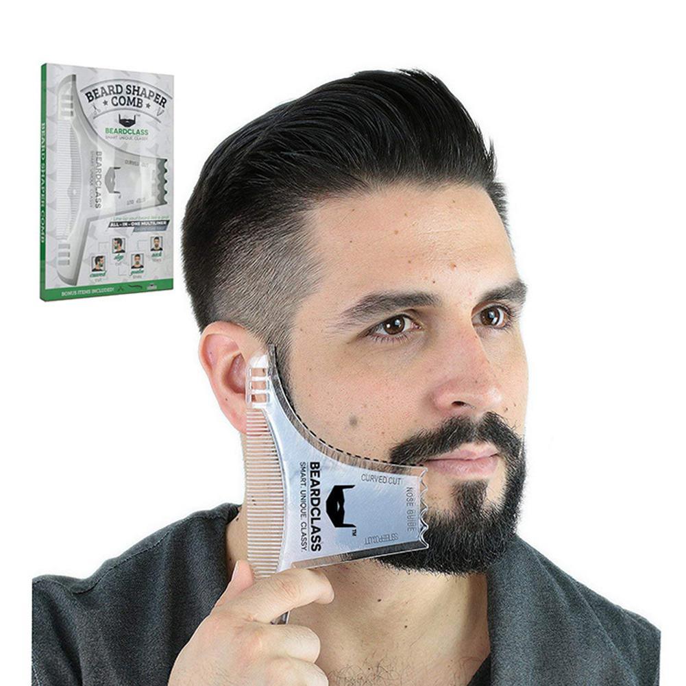 BellyLady Men Beard Shaping Styling Template Beard Hair Combs Men Shaving Tools Hair Beard Trim Template Barber Comb Style Brush недорого