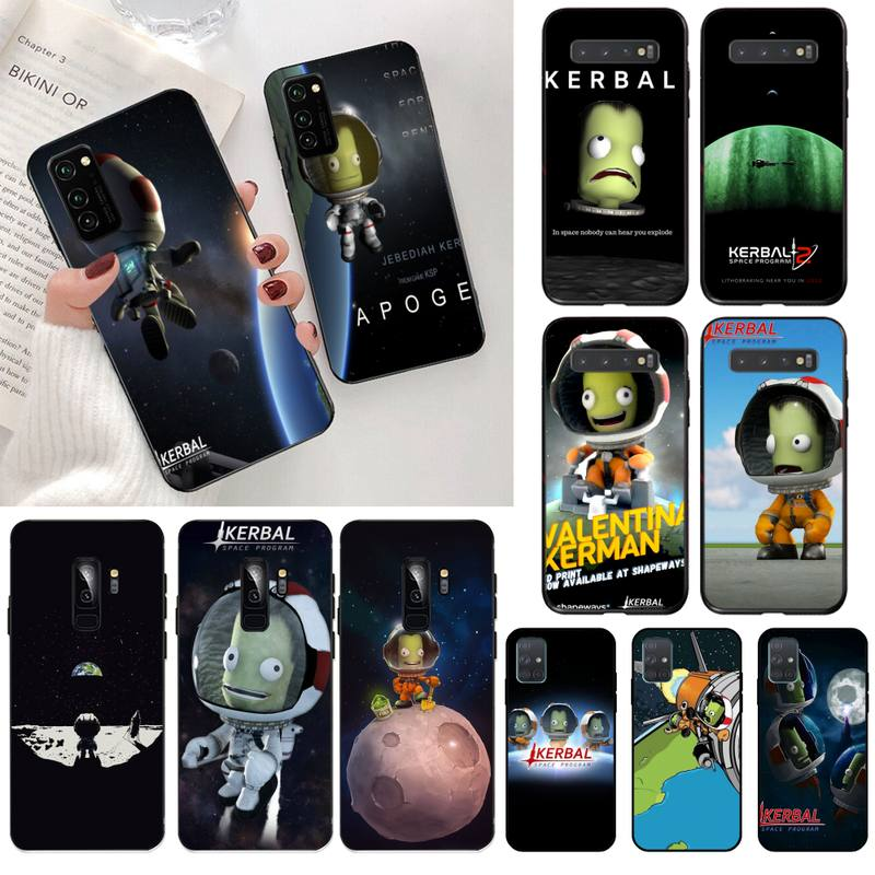 Kerbal programa espacial suave negro caja del teléfono de la cáscara del teléfono de Capa para Samsung S20 plus Ultra S6 S7 borde S8 S9 más S10 5G lite 2020