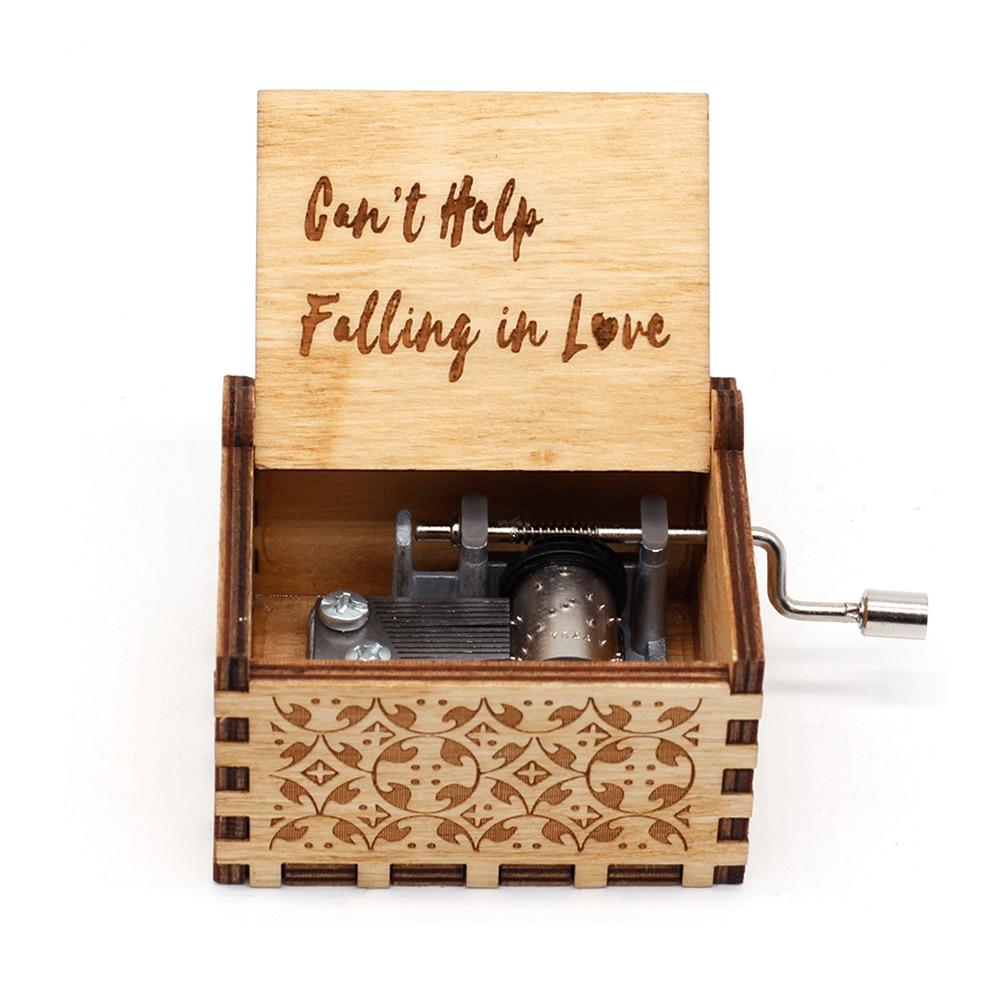 Деревянная рукоятка не поможет влюбиться в деревянную рукоятку музыкальная шкатулка Звездные войны Луна река музыкальные рождественские ...