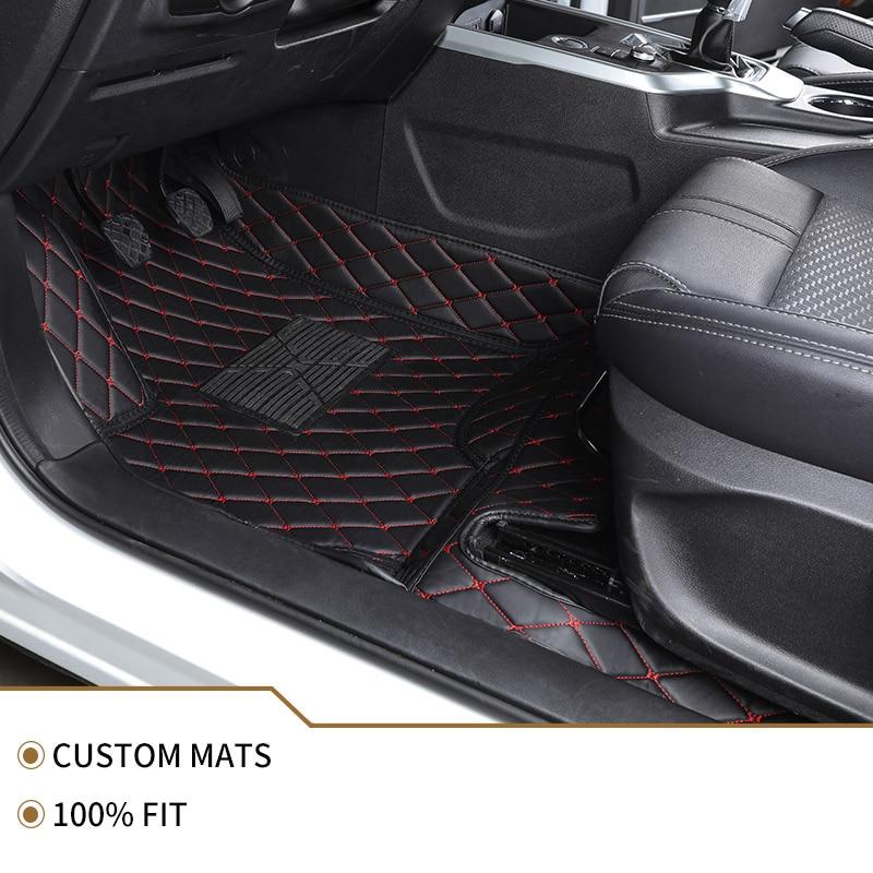 -Matte leder auto boden matten für Volkswagen Alle Modelle vw passat polo golf tiguan jetta touran touareg EOS auto fuß styling