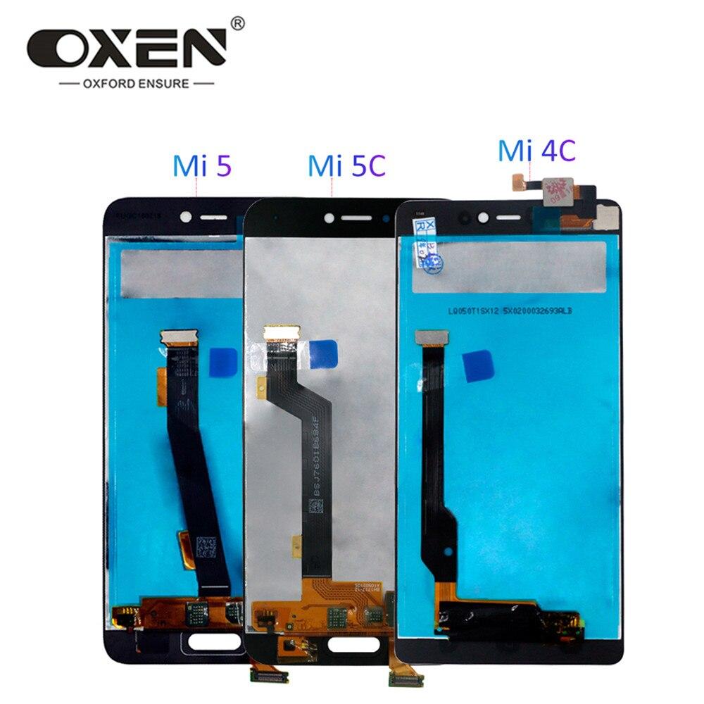 OXEN pantalla LCD para Xiaomi mi 4C LCD reemplazo de pantalla táctil para mi 5 5C mi 4C mi 5 mi 5 pantallas LCD digitalizador probado