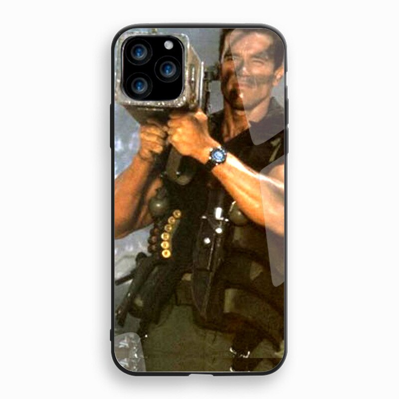 GrandEver 1 Uds Arnold Schwarzenegger película comando 1985 poster suave TPU suave funda de silicona para iPhone 11 pro max coque cubierta