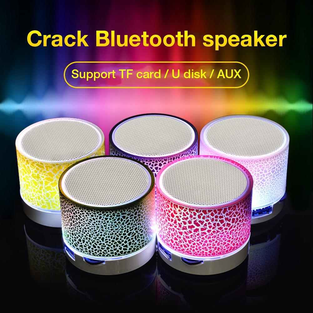 Mini Altavoz Bluetooth inalámbrico luz colorida sonido de sonido Mini Subwoofer teléfono móvil soporte tarjeta TF/U Disk / AUX