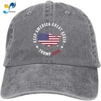 foecbir trump 2020 keep america great 5 baseball cap washed adjustable dad denim hats for men