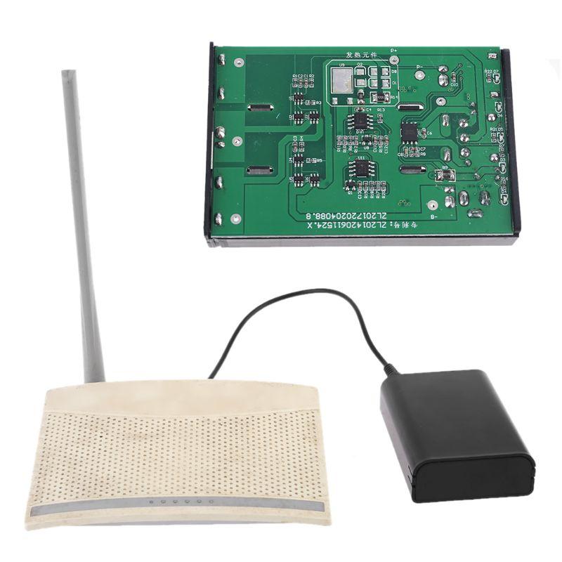 QC 3,0 USB 5,5x2,1mm 12V salida 3x18650 baterías DIY banco de energía caja de carga rápida para Smartphone WiFi Router luz LED