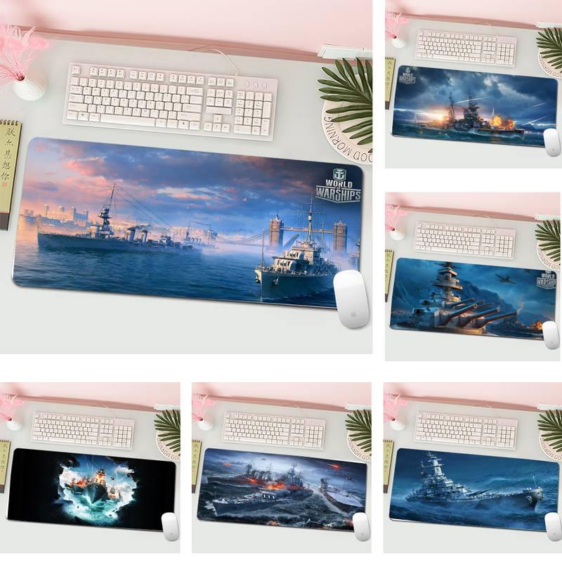 World of Warships Natural Rubber Desk Mat Gaming Mousepad XL Large Gamer Keyboard PC Desk Mat Computer Tablet Mouse Pad