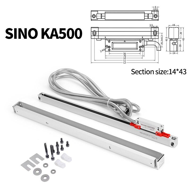 المعايرة الخطية الصغيرة SINO KA500 التشفير المعايرة الخطية للمخرطة مناسبة للقراءة الرقمية من أدوات الآلات الصغيرة.