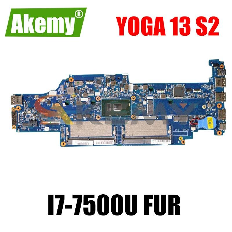 لينوفو ثينك باد اليوغا 13 S2 اللوحة الأم للكمبيوتر المحمول CPU SR2ZV I7-7500U DA0PS9MB8E0 الفراء 01HW981 01YT026 DDR4 اللوحة الرئيسية