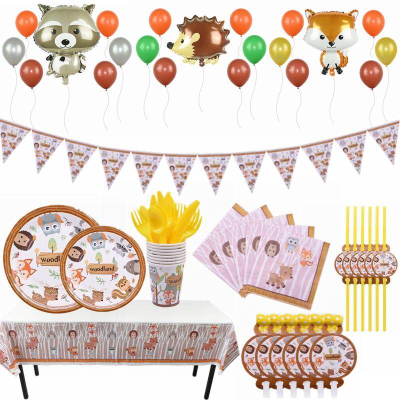 Balões de látex metálicos de animais, material de decoração de festa infantil e de aniversário