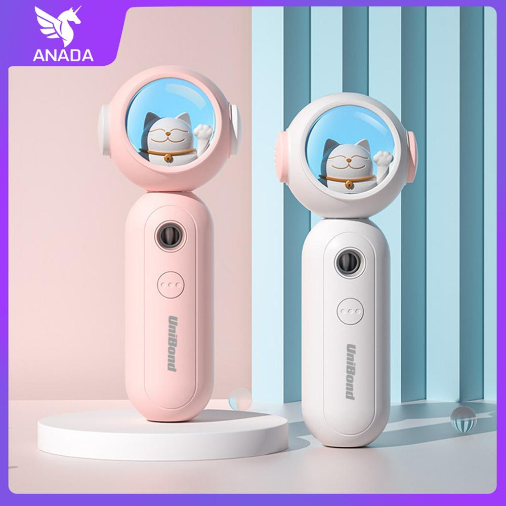 Anada Portable Small Humidifier USB Rechargable Handheld Water Meter Charging Mini  Cute Hydrating Instrument Skin CareTools