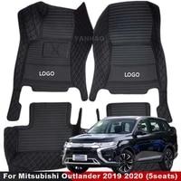 for mitsubishi outlander 2019 2020 5 seats car floor mats carpets auto interior accessories protective waterproof automobiles
