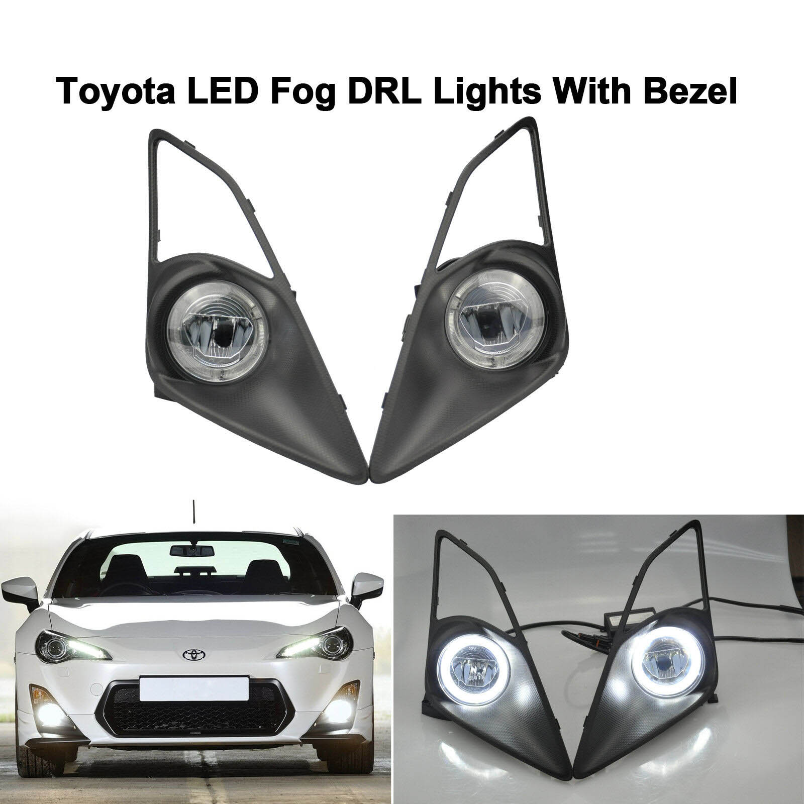 Anillo LED Halo luz antiniebla lámpara diurna DRL para Toyota GT86 Scion FR-S 2013-2016