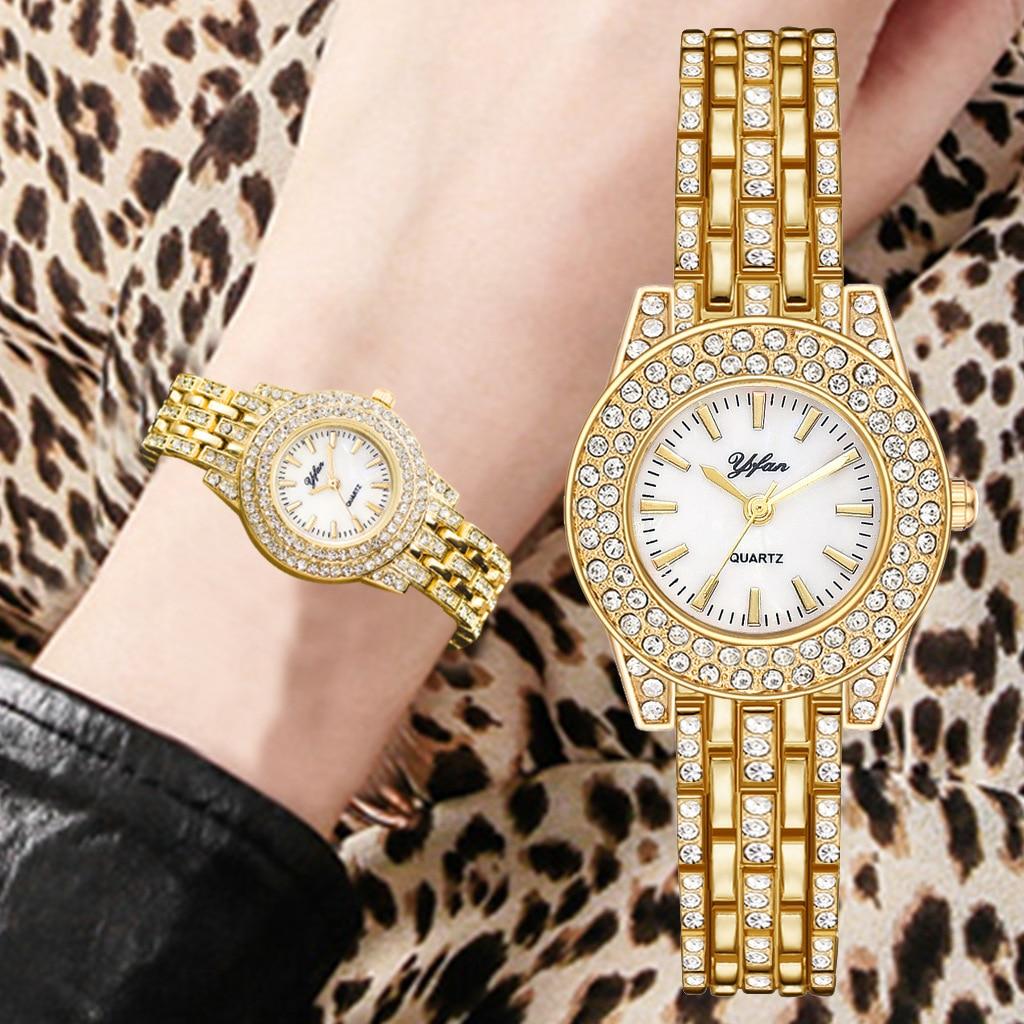 2021 new top luxury brand full diamond fashion watch ladies steel band watch fashion luxury quartz watch