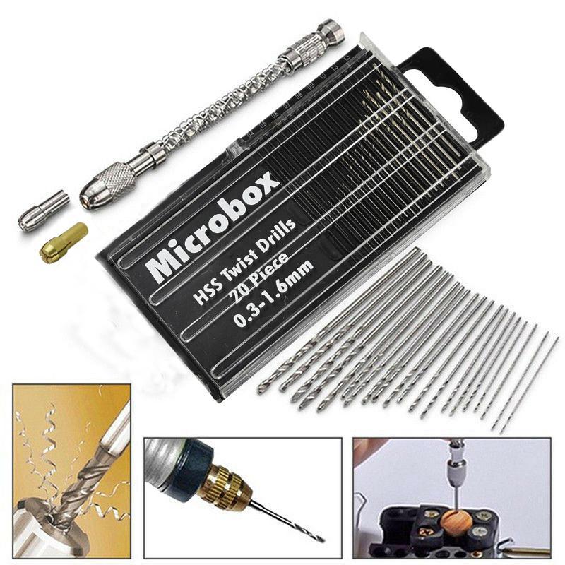 DIY инструмент 21 шт. мини микро спиральная ручная нажимная сверлильный патрон Завитый штырь тиски бит